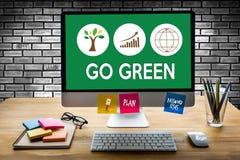 是关于Busin的绿色生活保存保护成长项目 库存例证