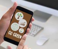 是关于Busin的绿色生活保存保护成长项目 向量例证