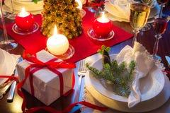 是可口圣诞节食物的时间 库存照片