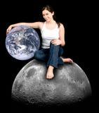 是地球您朋友的帮助 库存照片