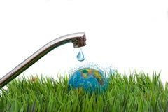 水是地球的人生来源 图库摄影
