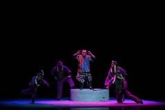 """是夺取夜与战斗孩子的北京Opera""""Yue teenager† 图库摄影"""