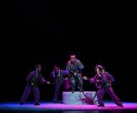 """是夺取夜与战斗孩子的北京Opera""""Yue teenager† 免版税图库摄影"""