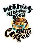 总是好早晨用咖啡 免版税库存图片