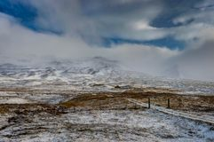 是完全地愉快的听到i,如果图象山感谢使用冬天会您的地方 圣诞节风景在一个晴朗的早晨 图库摄影