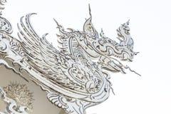 是寺庙艺术的白色纳卡语 库存图片