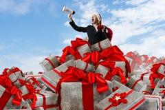 是您为圣诞节准备 混合画法 免版税库存照片