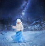 是愉快的童话完全地听到i,如果图象感谢使用冬天会您的地方 库存图片