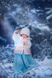 是愉快的童话完全地听到i,如果图象感谢使用冬天会您的地方 图库摄影