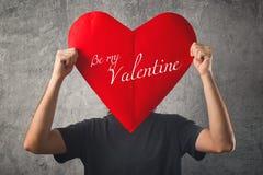 是我的华伦泰,情人节概念。 免版税库存图片