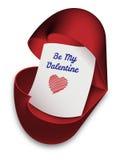是我的华伦泰-情人节卡片 库存照片