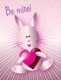 是我的粉红色安排兔子 免版税库存图片
