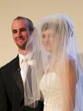 是新娘新郎很快与结婚 免版税库存图片
