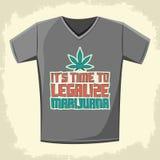 是时间合法化大麻-导航衬衣印刷品设计 向量例证