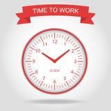 是时间工作 免版税库存照片