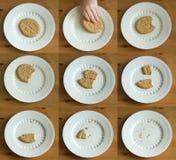 是曲奇饼被吃的顺序 免版税库存照片
