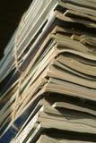 是杂志准备好的被回收的栈 库存照片