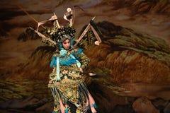 """是杨Family†的出神的与杨Qiniang-北京Opera""""妇女将军 图库摄影"""