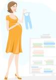 是母亲怀孕对妇女 免版税库存图片
