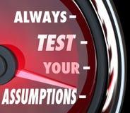 总是测试您的假定车速表测量仪测度论Hy 免版税库存图片