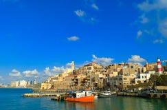 是海滩能教会城市以色列jaffa北部照片被看到的被采取的顶层 库存图片