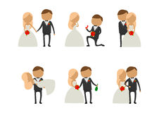 是的丈夫和的妻子愉快的婚礼 库存照片