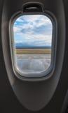 是的飞机有图象被去除的视图视窗 免版税库存照片