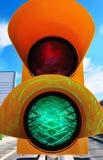 是绿色信号 库存图片