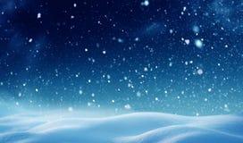 是能设计您例证横向晚上使用的冬天 免版税图库摄影