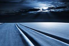 是能设计您例证横向晚上使用的冬天 免版税库存照片