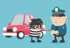 是被拘捕的偷车警察的拘捕  皇族释放例证