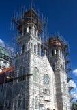 是被更新的教会老 库存图片