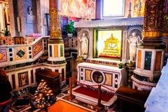 是被束缚的圣皮特圣徒・彼得的链子在圣被保留彼得罗教会在Vincoli在罗马 库存图片