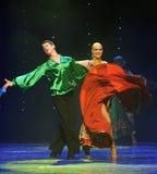 是陶醉动态颜色裙子这奥地利的世界舞蹈 库存照片