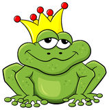 是青蛙被亲吻的王子对等待 免版税库存照片