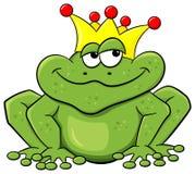 是青蛙被亲吻的王子对等待 库存照片