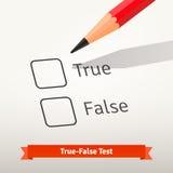 是非题的考试或勘测 免版税库存照片