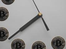 总是Bitcoin时间 图库摄影