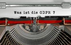 是ist死GDPR文本用那的德语意味什么是GDPR基因 免版税库存图片