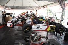 是kart赛跑的体育 免版税图库摄影