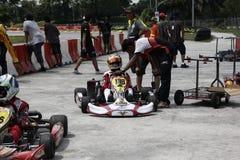 是kart赛跑的体育 库存照片