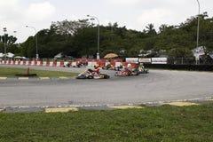 是kart赛跑的体育 图库摄影