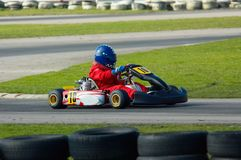 是kart赛跑 库存图片