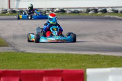 是kart赛跑 免版税图库摄影