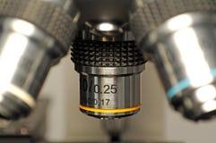 显微镜宏指令 免版税库存照片
