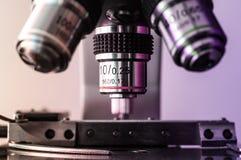显微镜宗旨和阶段 免版税库存照片