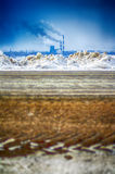 显示一个恶化的环境的工业风景 免版税库存图片