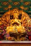 显示一千个现有量雕象的菩萨 免版税库存照片