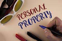 显示个人财产的文本标志 人写的概念性照片财产财产财产私人个体所有者在pla 库存图片