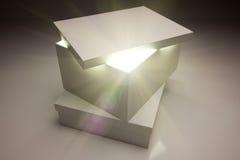 显示事的配件箱明亮的盒盖非常空白 库存图片